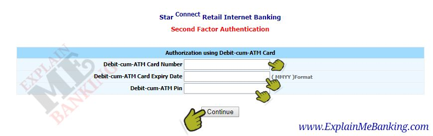 Enter BOI ATM Card Details