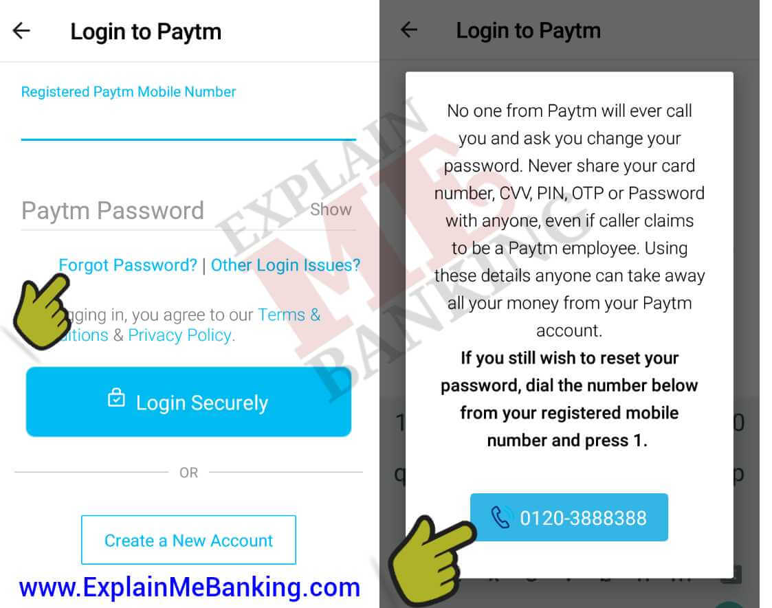 Paytm Password Bhul Jane Par Ise Forgot / Reset Kaise Kare