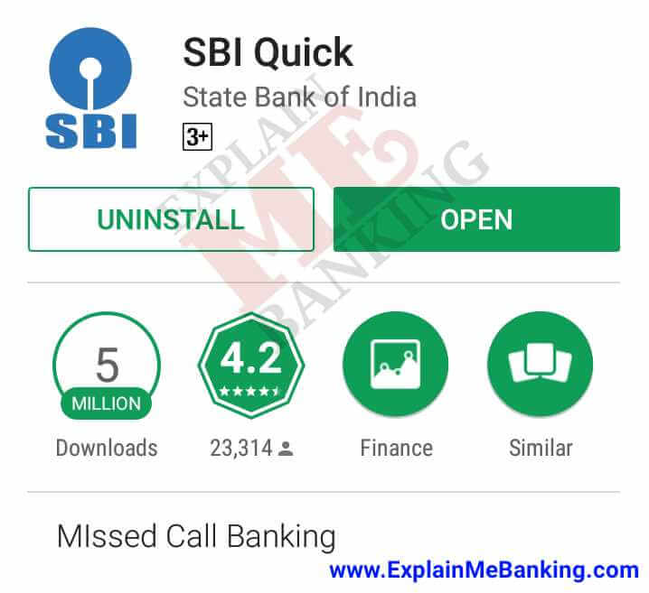 SBI Quick App Download