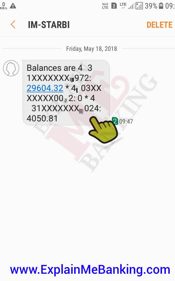BOI Bank Balance Enquiry