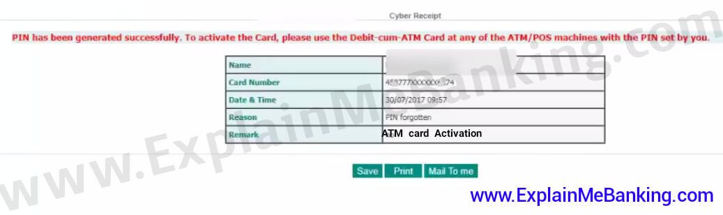 IDBI ATM Card Online Activation In Hindi