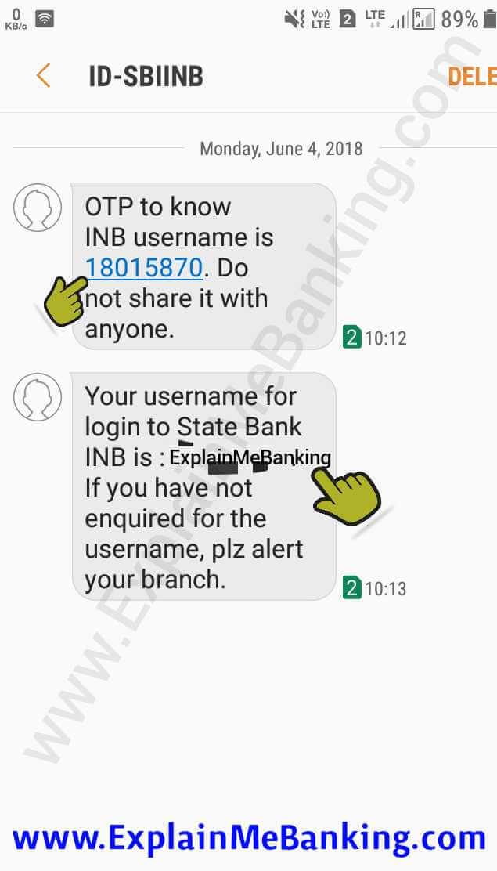 SBI Internet Banking Username
