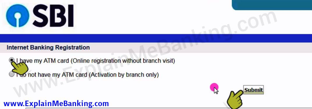 SBI Online Banking Activation