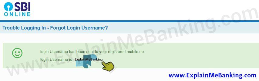 SBI Online Banking Username