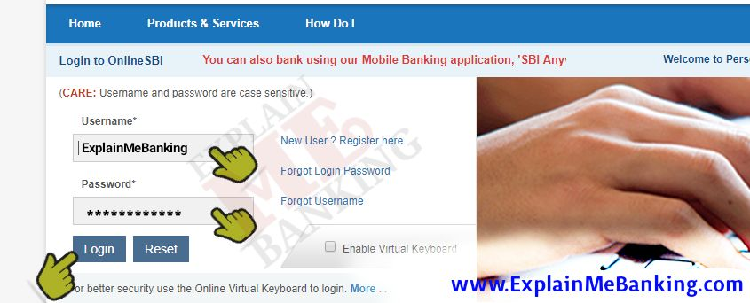 SBI Login Option, SBI Internet Banking Login, Online SBI Login, State Bank Of India Login, SBI Net Banking Login