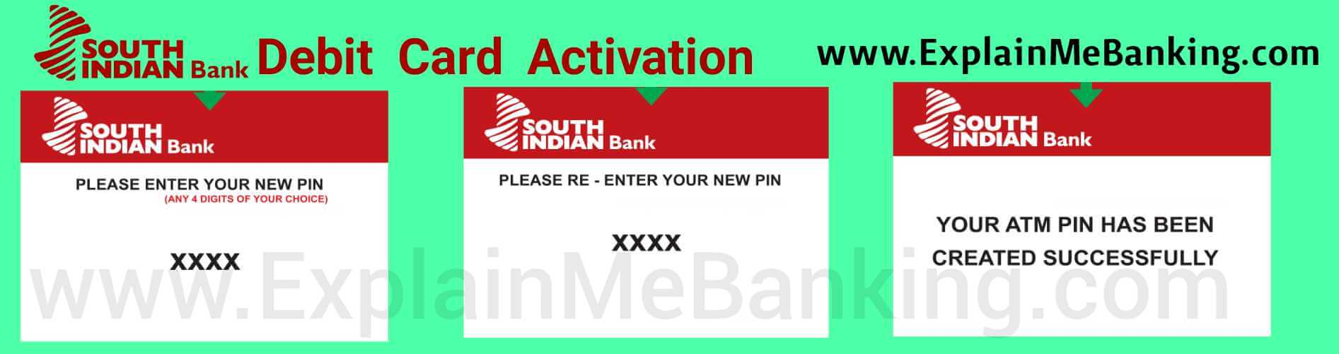 South Indian Bank Debit Card Activation
