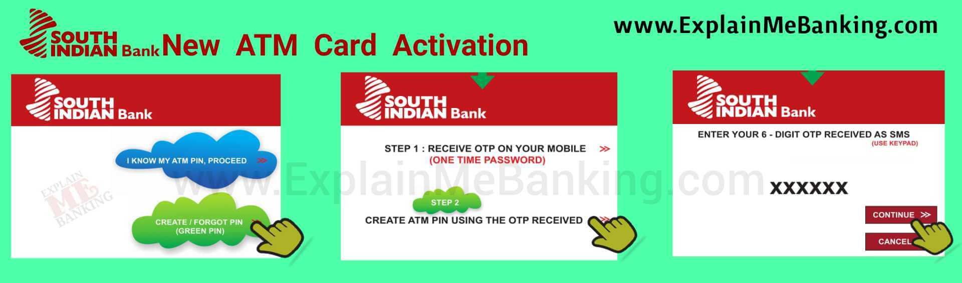 South Indian Bank New ATM Card Activation