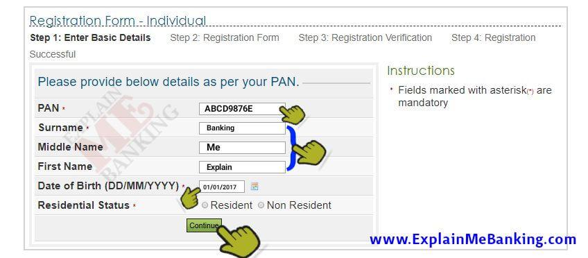Enter PAN Details