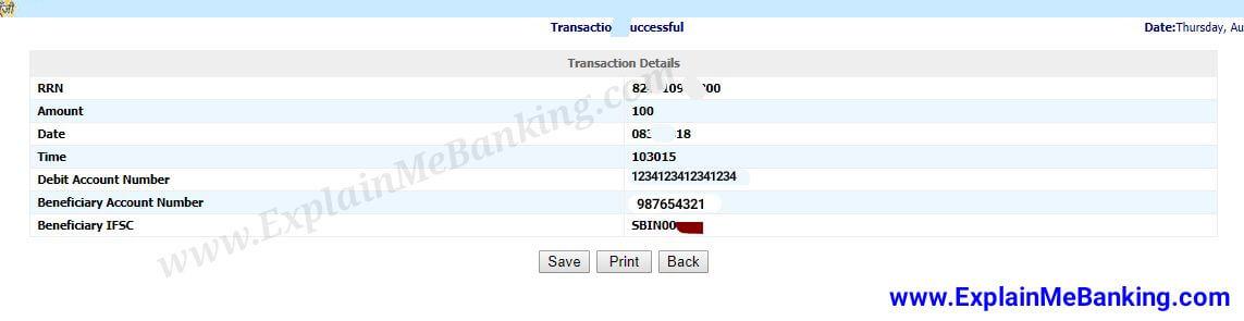BOI Online Paise Transfer