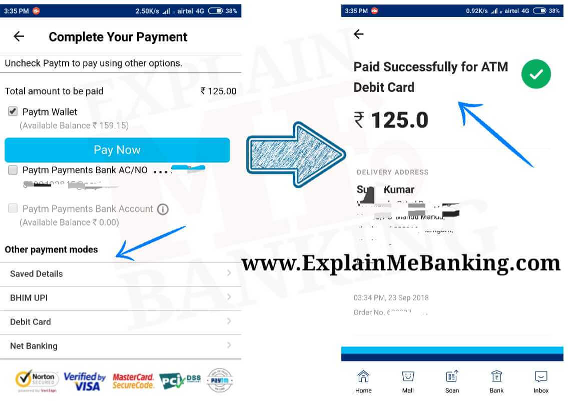 Paytm Payment Bank Online Payment