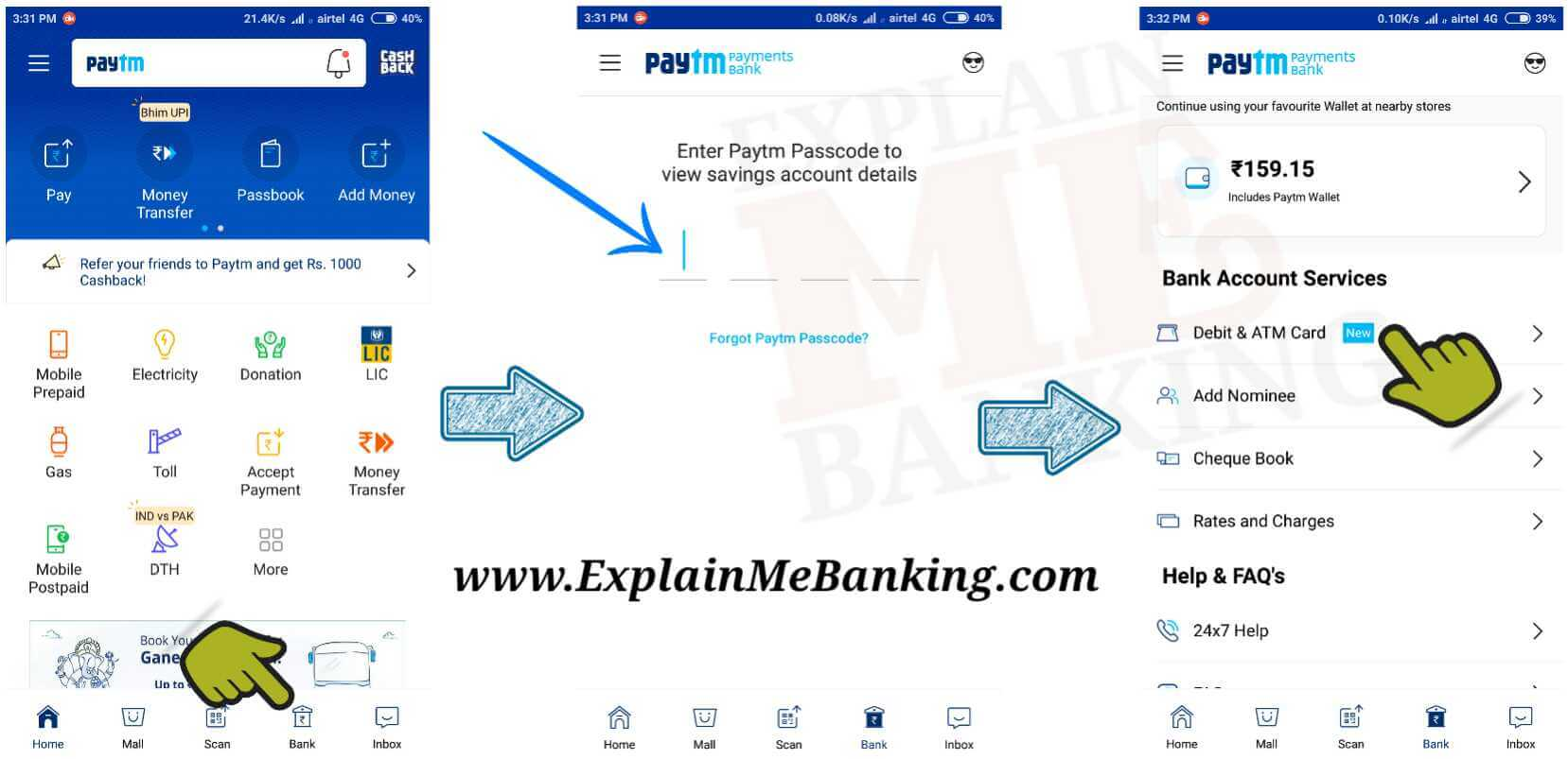 Paytm Payments Bank Login
