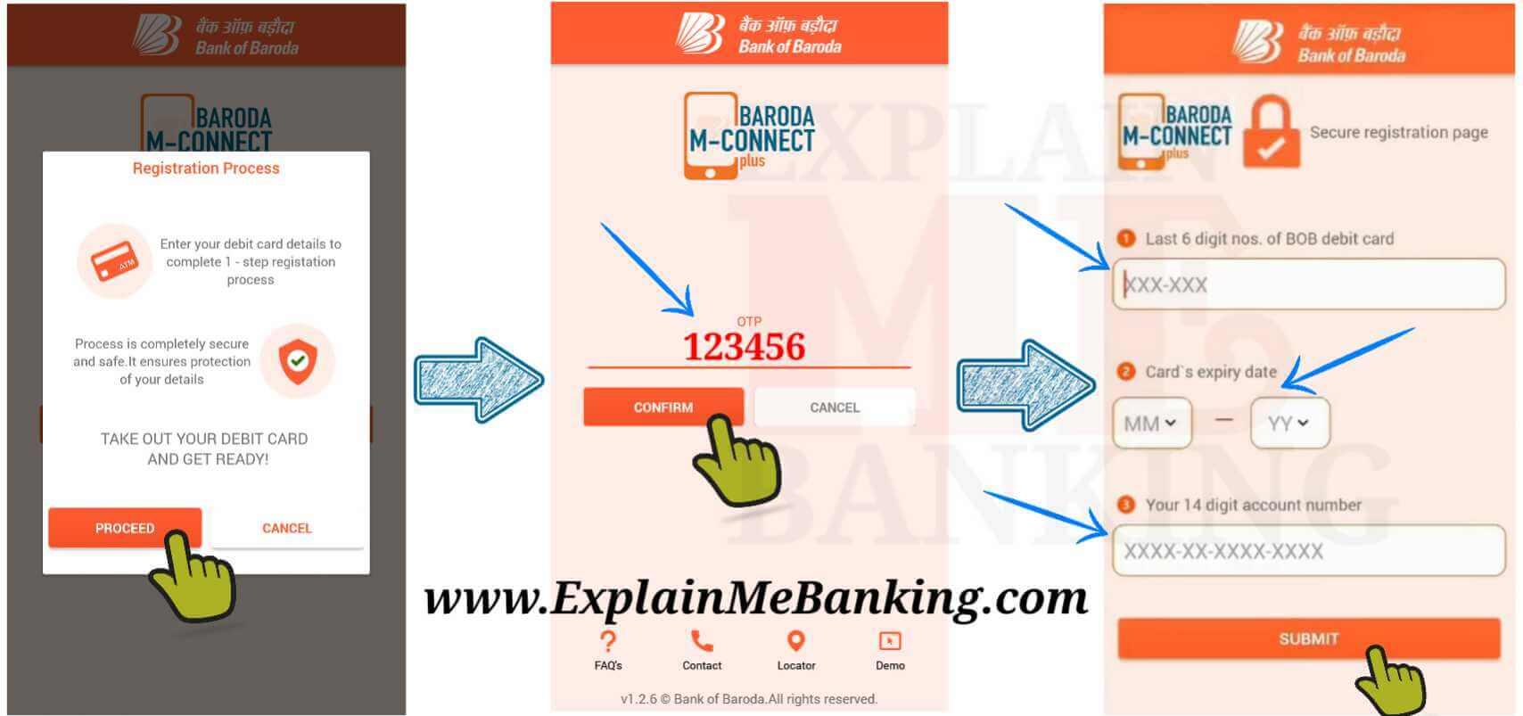 BOB Mobile Banking Registration Details