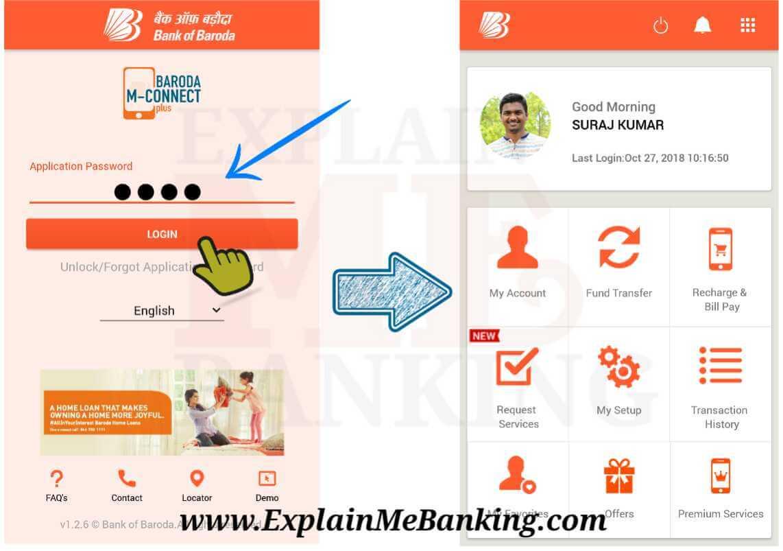 Bank Of Baroda Mobile Banking Login