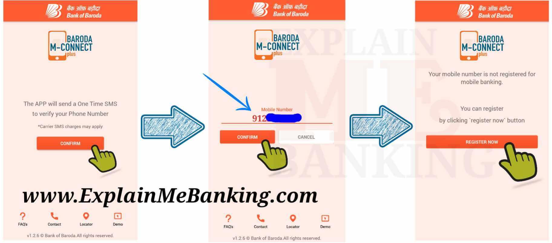 Bank Of Baroda Mobile Banking Registration