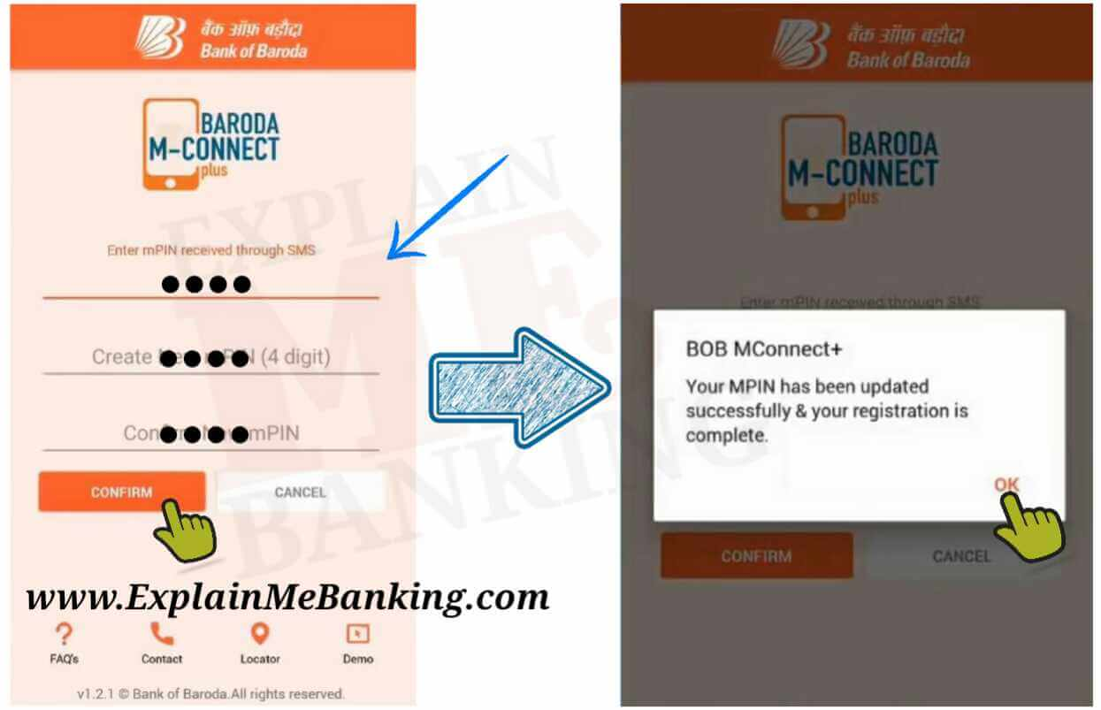 Bank Of Baroda mPIN Change