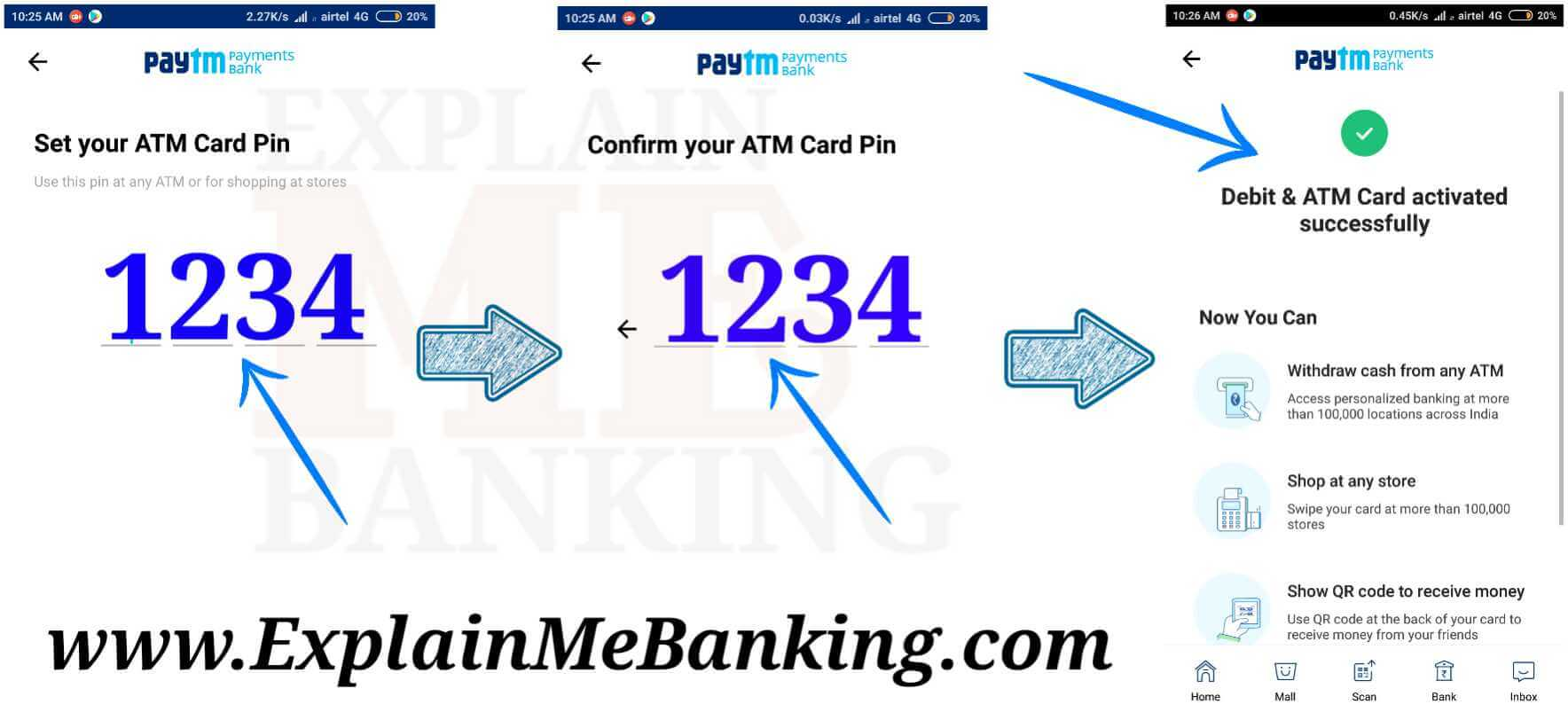 Paytm Debit Card Activation