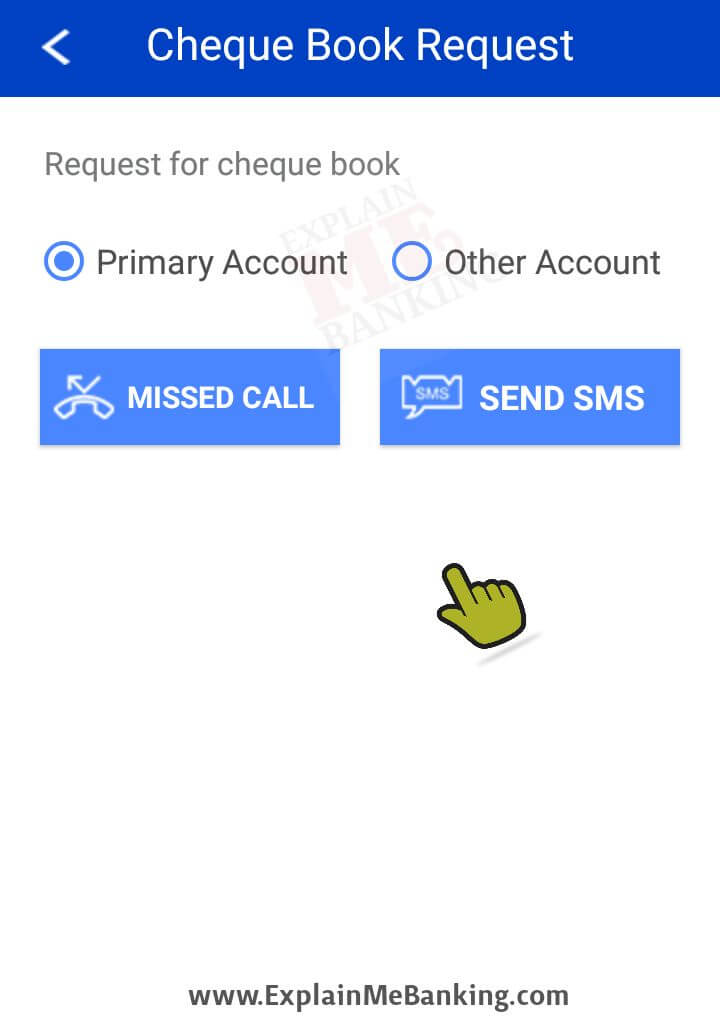 HDFC Bank Cheque Book Request