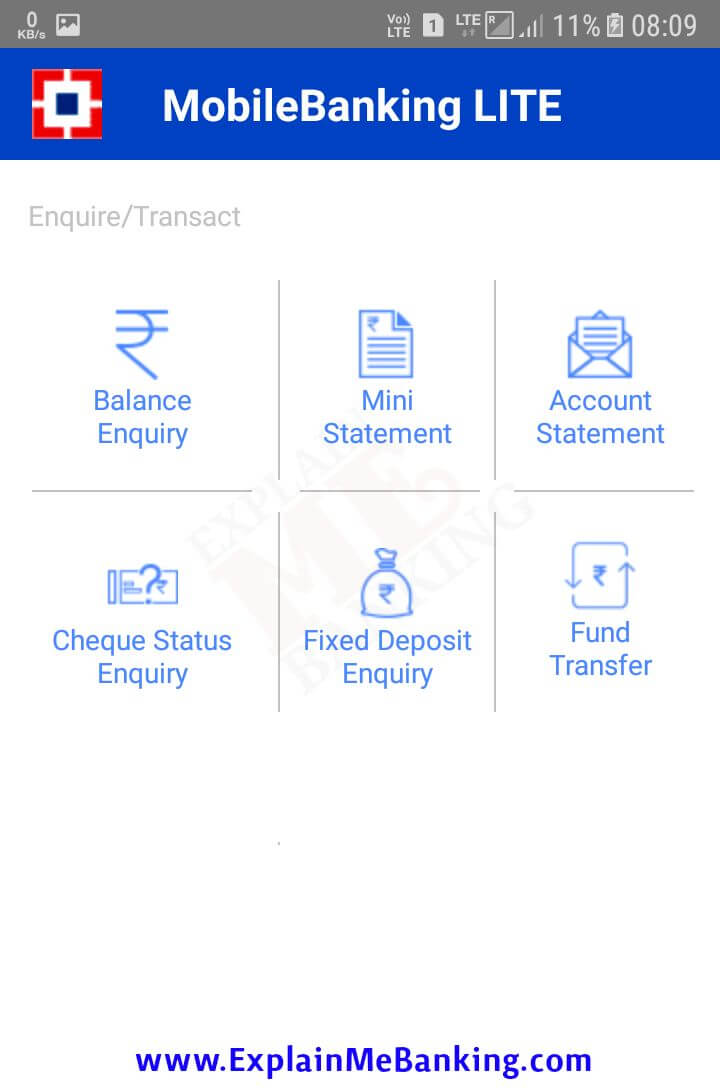 HDFC Lite App Enquiry / Transact