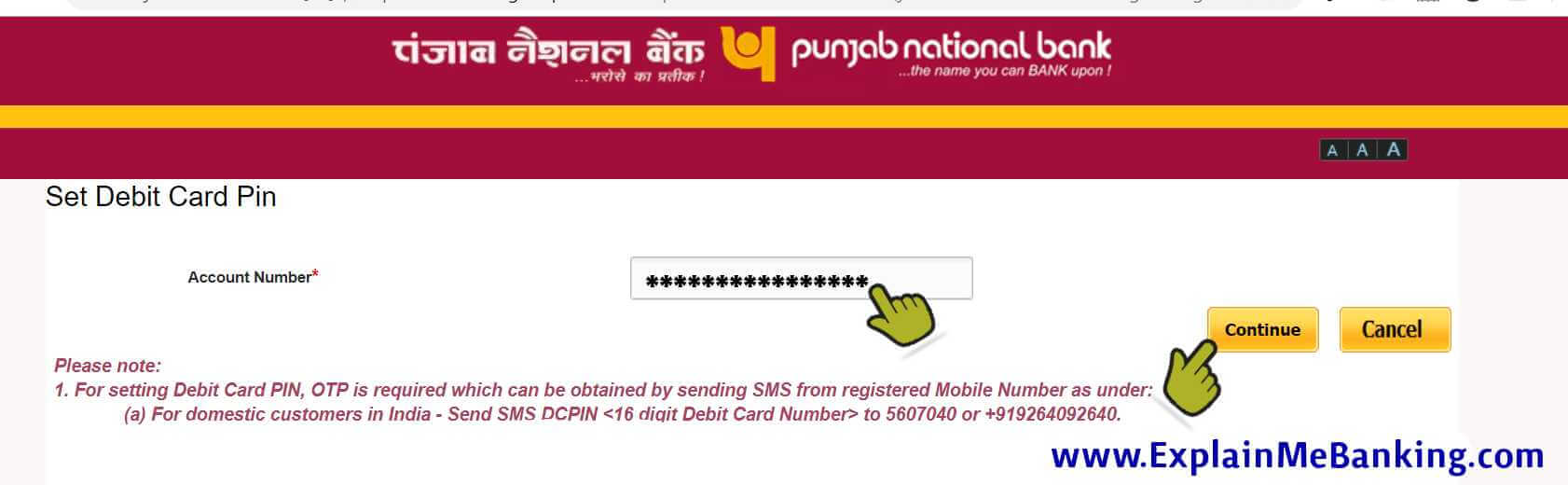 PNB Account Number