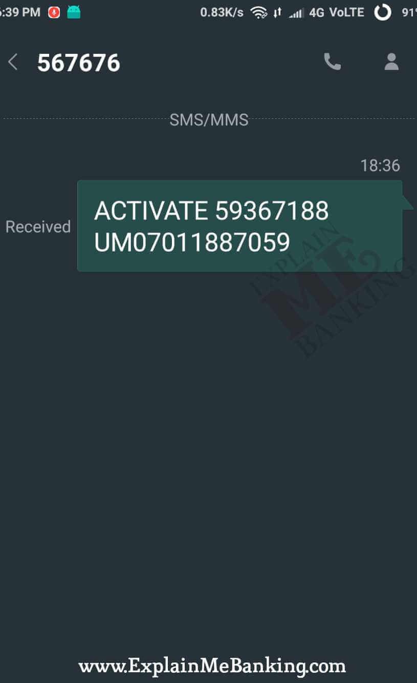 SBI Mobile Number Change SMS