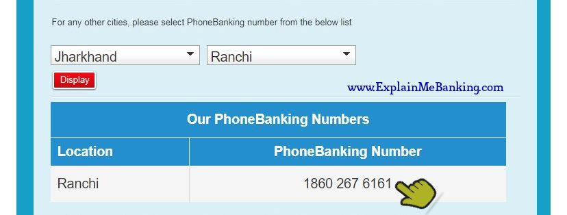 HDFC Phone Banking Number Ranchi