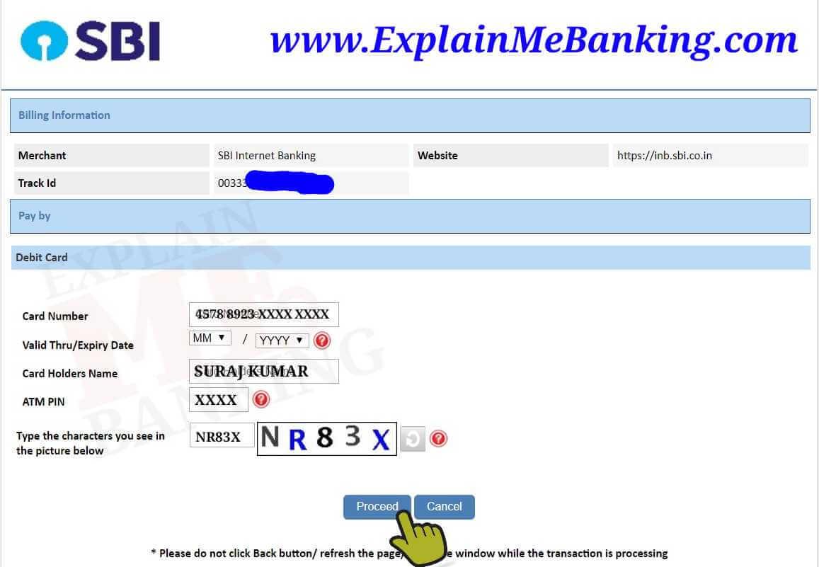 SBI ATM Card Details