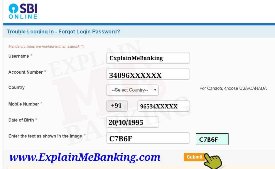 SBI Net Banking Details
