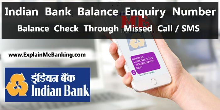 Indian Bank Balance Enquiry Number, Missed Call Se Balance Check Kaise Kare