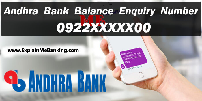Andhra Bank Balance Enquiry Number. Andhra Bank Balance Check Through Missed Call