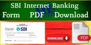 SBI Internet Banking Form PDF Download ( SBI Net Banking Form Pdf )