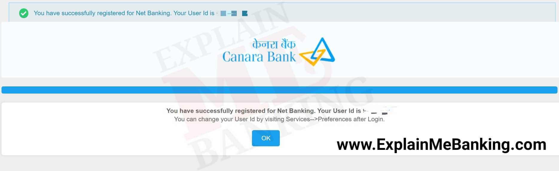 Canara Bank User ID