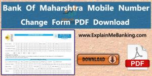 Bank Of Maharashtra Mobile Number Change Form Pdf Download