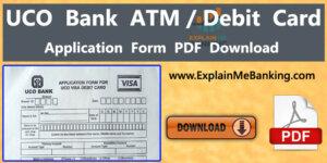 UCO Bank ATM Card Application Form Download Pdf