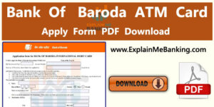 Bank Of Baroda ATM Card Application From Download