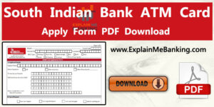 South Indian Bank ATM Card Application Form Pdf Download